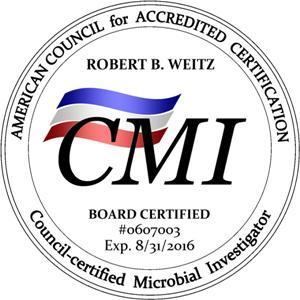 certified microbial investigator seal Robert Weitz