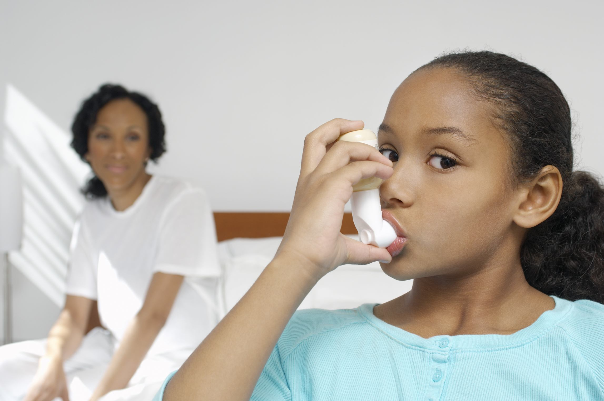 child used inhaler to control asthma symptoms. Mold could make asthma worse for sufferers