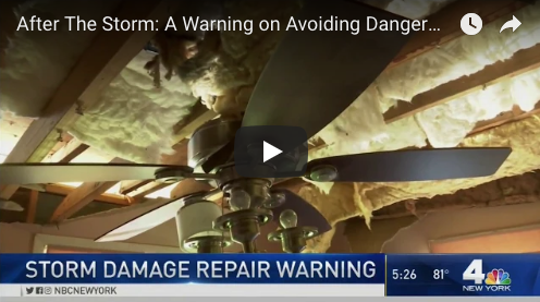 NBC New York: Storm Damage Repair Warning