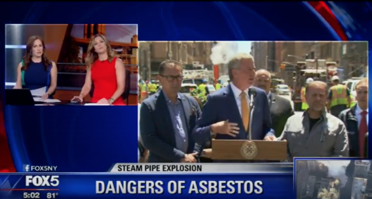 Video: Fox 5 NY Talks to RTK About Steam Pipe Explosion, Asbestos Contamination